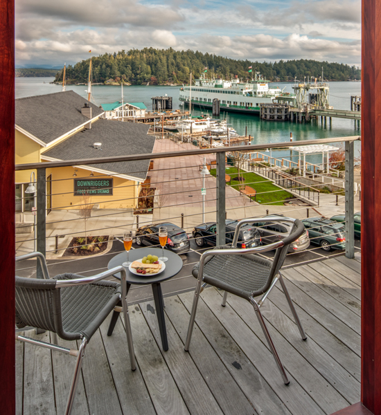 Front Harbor View Balcony Friday Harbor Hotel The Island Inn at 123 West Penthouse 2