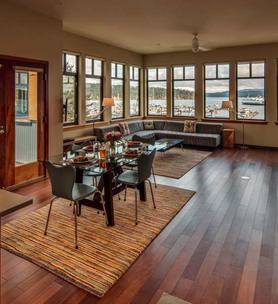 Dining Space Friday Harbor Hotel The Island Inn at 123 West Penthouse 2